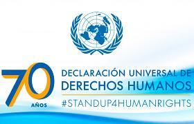 Logotipo del 70 aniversario de la Declaración Universal de los Derechos Humanos