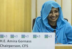 Amira Gornass, presidenta del Comité de Seguridad Alimentaria