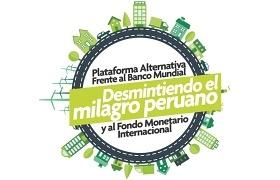 """Logotipo de la movilización de sociedad civil """"Desmintiendo el milagro peruano"""""""
