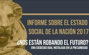 Detalle de la portada del informe sobre el estado social de la nación 2017