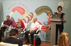 Fotografía del acto de presentación de la Estrategia Madrid Alimenta