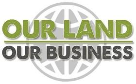 Logotipo de la campaña Our Land Our Business