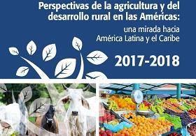 Detalla de la portada del informe Perspectivas de la agricultura y del desarrollo rural en las Américas 2017-2018
