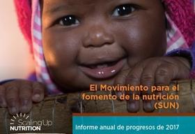 Detalle de la portada del informe 2017 del movimiento Scaling Up Nutrition