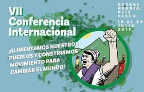 Cartel de la VII Conferencia Internacional de la Vía Campesina