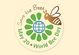 Logo tipo del Día Mundial de las Abejas