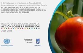 banner de la jornada sobre el decenio de acción sobre la nutrición