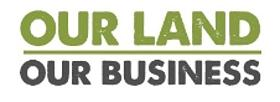 logo de la campaña our land our business