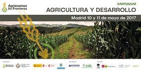 Cartel del simposium sobre agricultura y desarrollo
