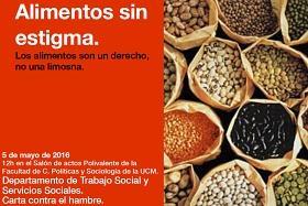 """Cartel de la actividad """"Alimentos sin estigma"""""""