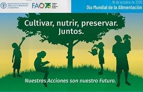 Cartel del día mundial de la alimentación 2020