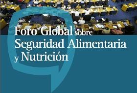 Página del Foro Global sobre seguridad alimentaria y nutrición