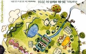 Cartel de la charla coloquio sobre huertos sostenibles
