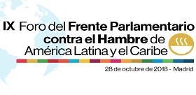 logotipo del IX Foro del Frente Parlamentario contra el Hambre