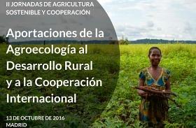 Cartel de las II Jornadas de Agricultura Sostenible y Cooperación al Desarrollo