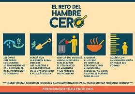 Banner del Zero Hunger Challenge de Naciones Unidas