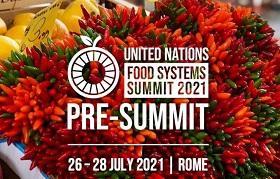 Logotipo de la precumbre sobre sistemas alimentarios