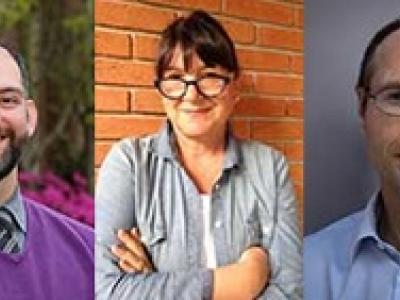 Fotografías de los tres relatores firmantes de la carta