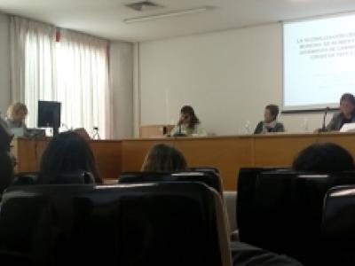 Imagen del momento de defensa de la tesis doctoral
